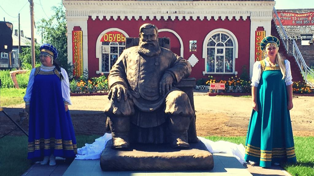 Мариинск. Памятник купцу